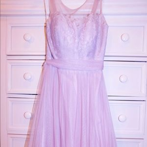 Long Tule and Lace Formal Dress